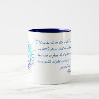 When He Shall Die Two-Tone Coffee Mug