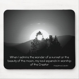 When I admire the wonder...Gahndi Mouse Pad