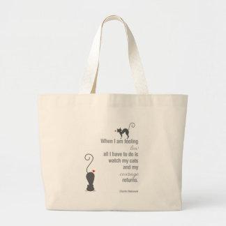 When I Am Feeling Low - Bukowski - inspirational Jumbo Tote Bag