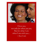 WHEN I AM WITH YOU POSTER, BARACK & MICHELLE OBAMA