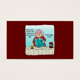 When I Became a Mother Funny Humor Business Cards