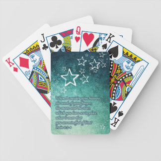 When I Consider the Stars Psalm 8:3-4 Bible Verse Bicycle Playing Cards