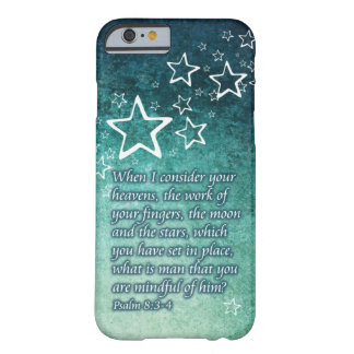 When I Consider the Stars Psalm 8:3-4 Bible Verse Barely There iPhone 6 Case