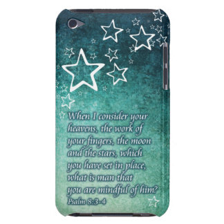 When I Consider the Stars Psalm 8:3-4 Bible Verse iPod Touch Case-Mate Case