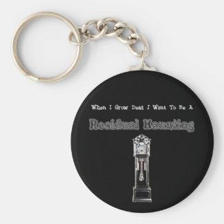 When I Die...Residual Basic Round Button Keychain