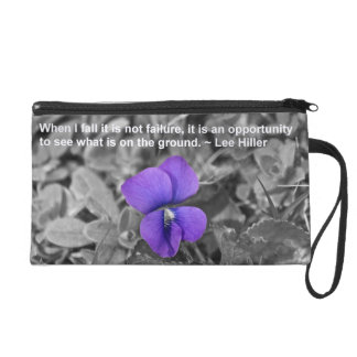 When I fall it is not failure... Wristlet Purse