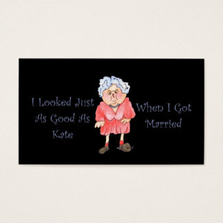 When I Got Married Funny Humorous Business Cards