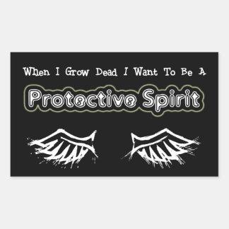 When I Grow Dead...Protective Rectangular Sticker