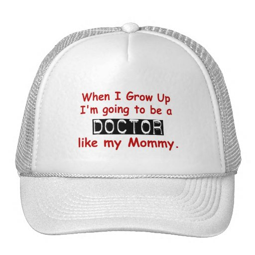 When I Grow Up 1.2 Doctor Like Mommy Mesh Hats