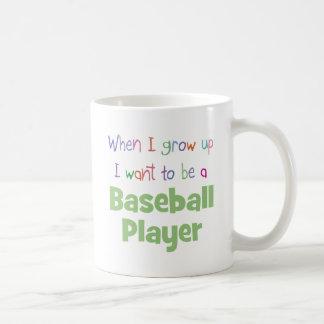 When I Grow Up Baseball Player Coffee Mug