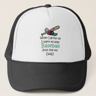 When I grow up Baseball with graphic Trucker Hat