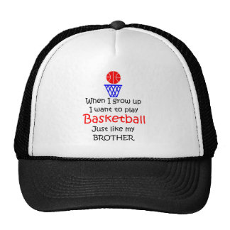 When I grow up Basketball with graphic Trucker Hat