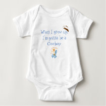 When I grow up cowboy Baby Bodysuit