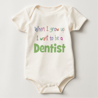 When I Grow Up Dentist Baby Bodysuit