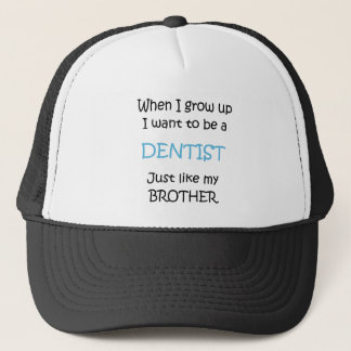 When I grow up Dentist text only Trucker Hat