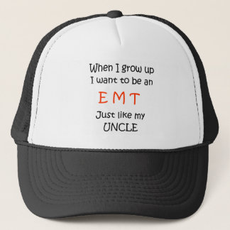 When I grow up EMT text only Trucker Hat