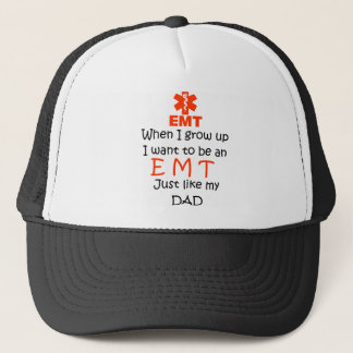 When I grow up EMT with graphic Trucker Hat