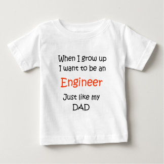 When I grow up Engineer text only Tee Shirt
