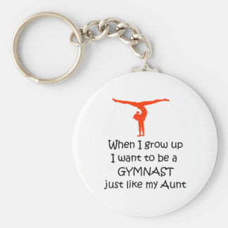 When I grow up Female Basic Round Button Keychain