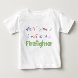When I Grow Up Firefighter Baby T-Shirt