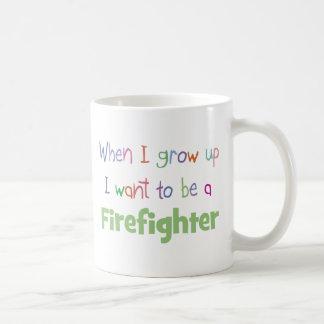 When I Grow Up Firefighter Coffee Mug