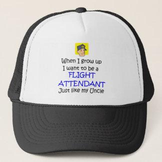 When I grow up Flight Attendant Trucker Hat