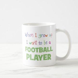 When I Grow Up Football Player Coffee Mug