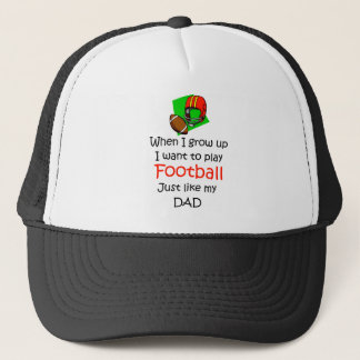 When I grow up Football with graphic Trucker Hat