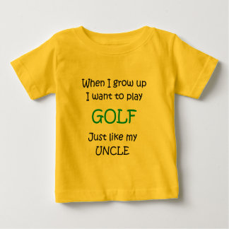 When I grow up Golf text only Baby T-Shirt