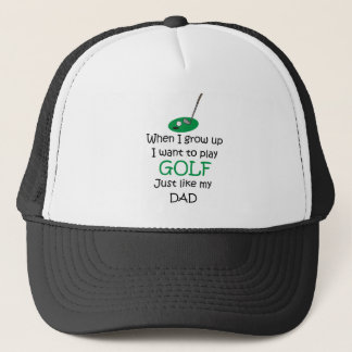 When I grow up Golf with graphic Trucker Hat