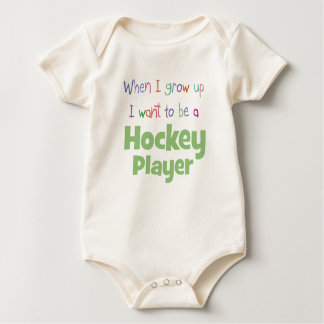 When I Grow Up Hockey Player Baby Bodysuit