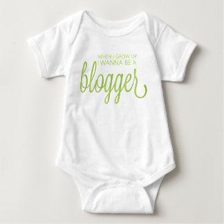 When I grow up I wanna be a blogger Baby Bodysuit