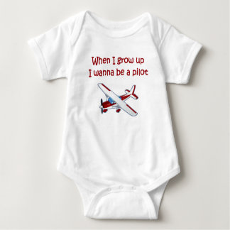 When I grow up I wanna be an Airplane Pilot like D Baby Bodysuit