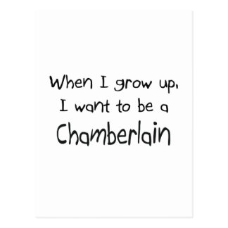 When I grow up I want to be a Chamberlain Postcard