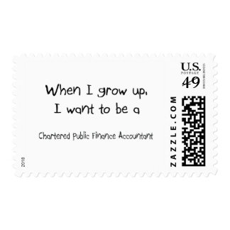 When I grow up I want to be a Chartered Public Fin Stamp