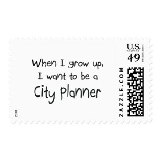 When I grow up I want to be a City Planner Stamps
