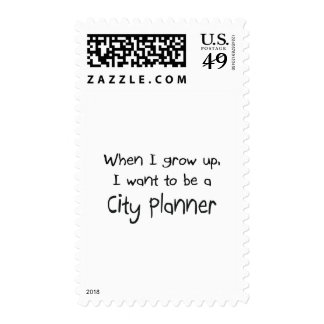 When I grow up I want to be a City Planner Postage Stamp