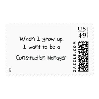 When I grow up I want to be a Construction Manager Postage Stamp