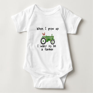 When I grow up, I want to be a farmer Baby Bodysuit