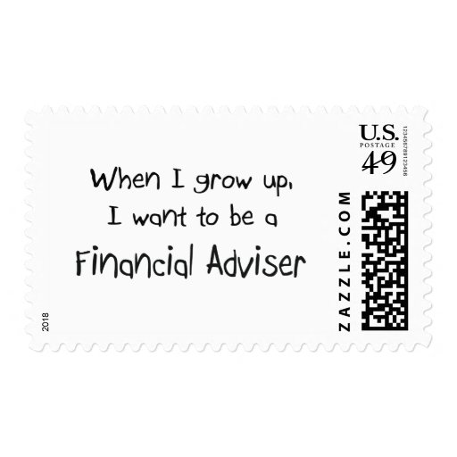 When I grow up I want to be a Financial Adviser Postage Stamp