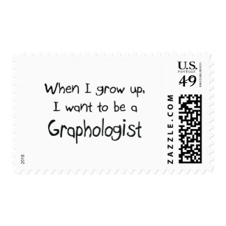 When I grow up I want to be a Graphologist Postage