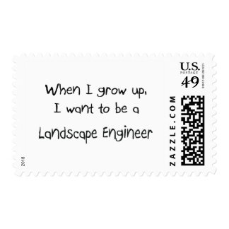 When I grow up I want to be a Landscape Engineer Stamps