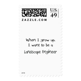 When I grow up I want to be a Landscape Engineer Postage