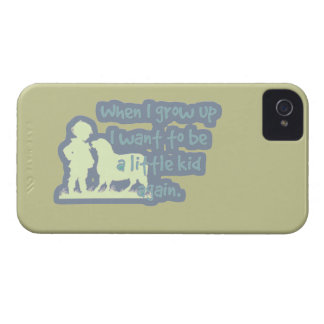 When I grow up I want to be a little kid again... iPhone 4 Case