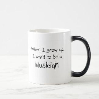 When I grow up I want to be a Musician Magic Mug