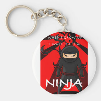 When I grow up I want to be a Ninja Basic Round Button Keychain