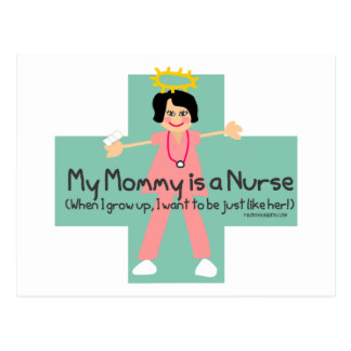 When I grow  up, I want to be a Nurse 3 Postcards
