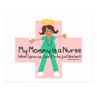 When I grow up, I want to be a Nurse Post Card