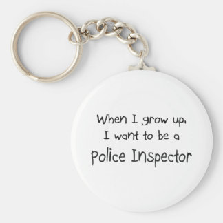 When I grow up I want to be a Police Inspector Basic Round Button Keychain
