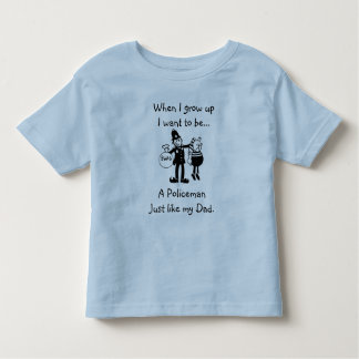 When I grow up I want to be..... A policeman Toddler T-shirt